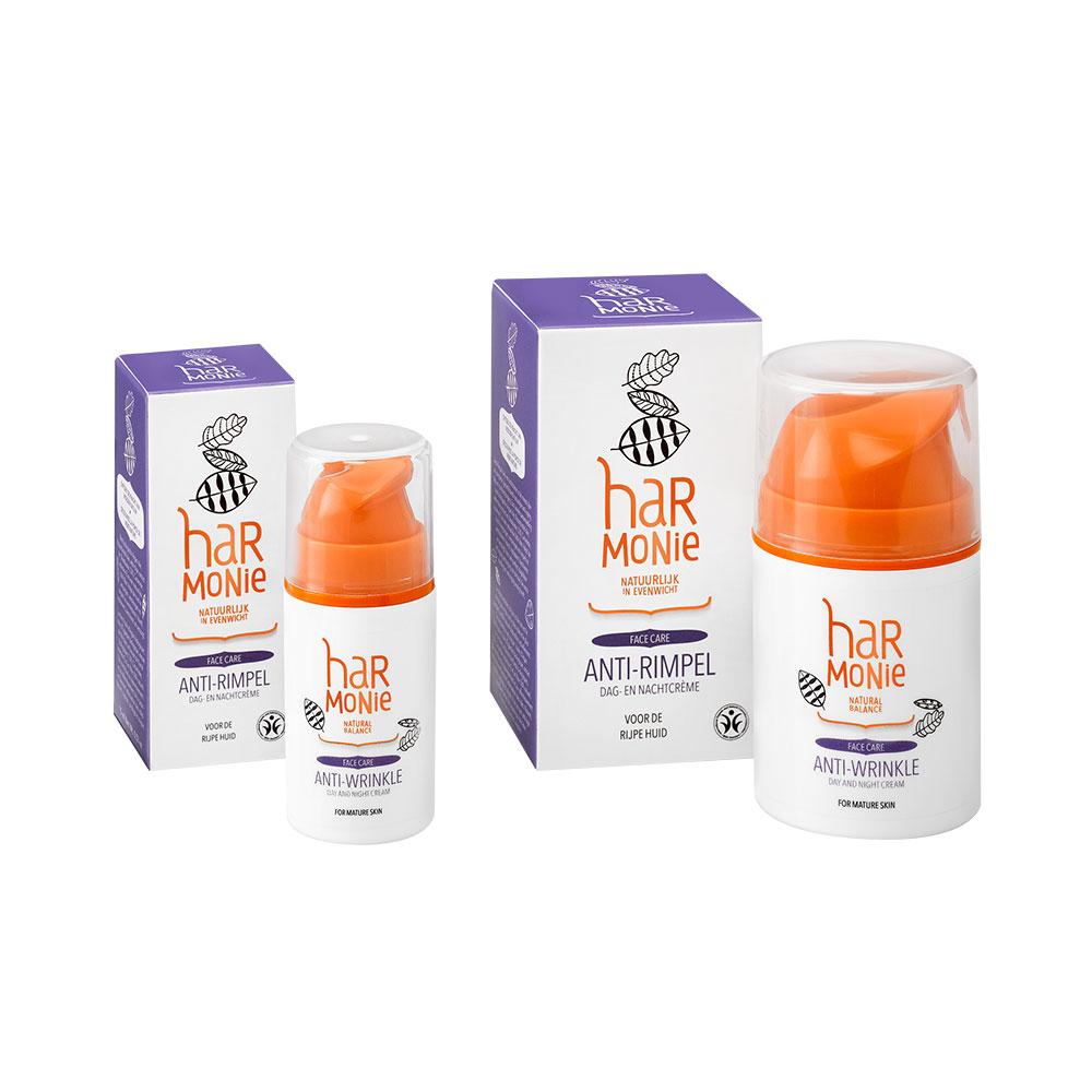 Anti-rimpel dag- en nachtcrème – 15 ml en 50 ml
